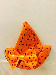 X射線【W530002】髮夾巫婆帽(橘),萬聖節/派對用品/舞會道具/cosplay/角色扮演/聖誕節/表演/情趣/園遊會/校慶