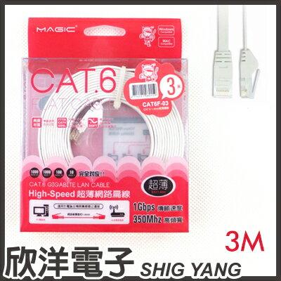 ※ 欣洋電子 ※ Magic 鴻象 Cat6 High-Speed 超薄網路線3米/3M (CAT6F-03)/台灣製造