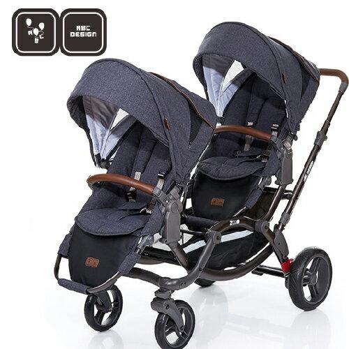 【雨罩/蚊帳二選一】德國【ABC Design】ZOOM 嬰兒雙人推車(高階皮革版)(2017新款12月到貨) 1