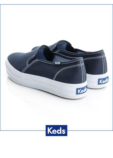 Keds 品牌經典厚底休閒便鞋(海軍藍) 1