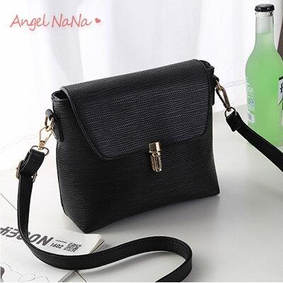 側背包。簡約糖果色條紋 插釦鎖扣 女斜背包 小包包【B156】AngelNaNa