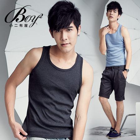 ☆BOY-2☆ Korea Style 【OE30052】素面挖背背心-5色 現+預