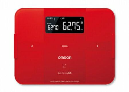 OMRON歐姆龍體重體脂肪計 HBF-254C(紅色),限量加贈歐姆龍計步器HJ325及歐姆龍專用提袋