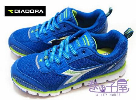 【巷子屋】義大利國寶鞋-DIADORA迪亞多納 男大童超輕量寬楦運動跑鞋 [9176] 藍 Twist科技 185g 超值價$498