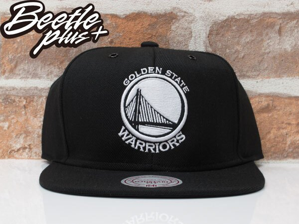 BEETLE MITCHELL&NESS NBA WARRIORS 金州 勇士 CURRY 黑白 SNAPBACK 帽 0