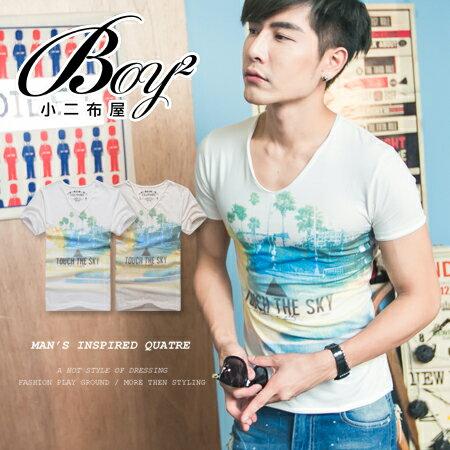 ☆BOY-2☆【NR01051】短袖T恤韓版潮流三角形彩色印花短T 0