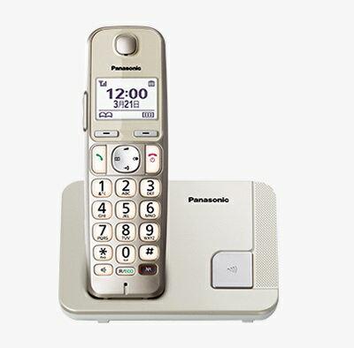 國際 Panasonic DECT中文顯示數位無線電話KX-TGE210TW(香檳金) /嬰兒監視功能(需擴充子機)