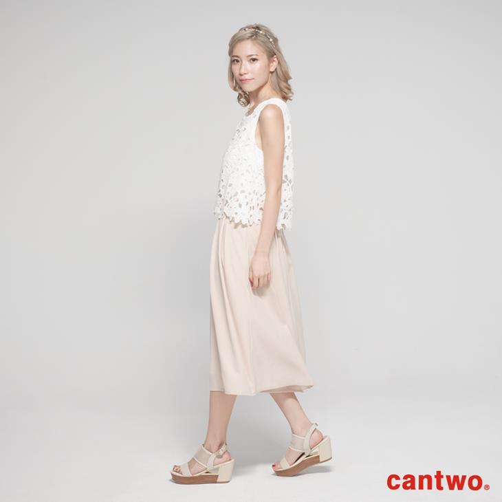 cantwo鏤空蕾絲無袖連身褲(共二色) 2