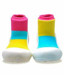 【本月特價$599】韓國【Attipas】快樂腳襪型學步鞋-居家粉紅 0