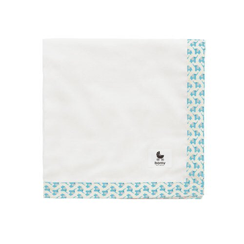 韓國【 Borny 】多功能透氣純棉紗巾(水藍色) 0
