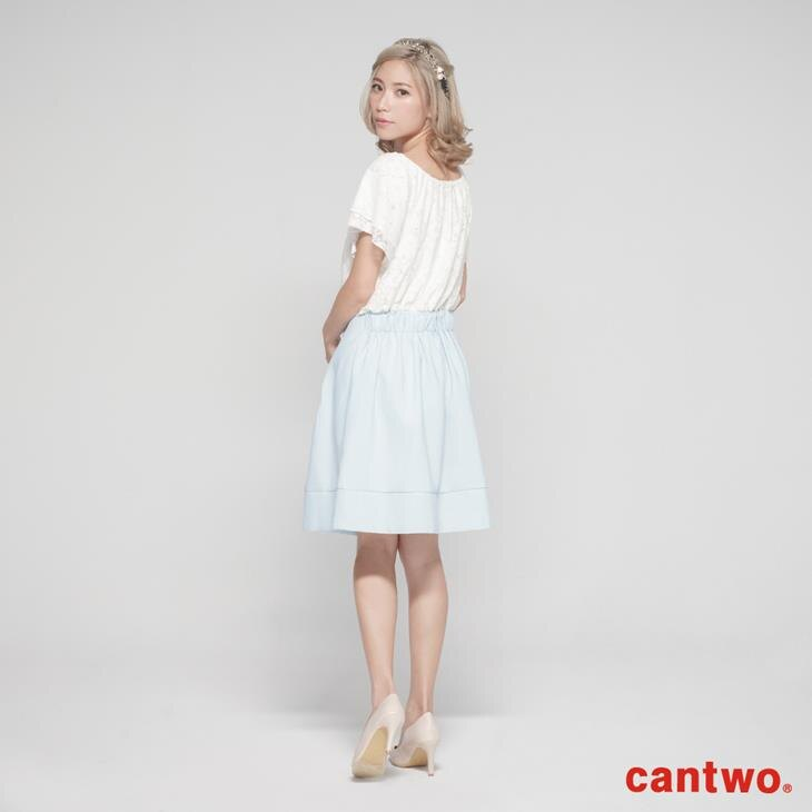 cantwo蕾絲雙層荷葉袖洋裝(共二色) 3