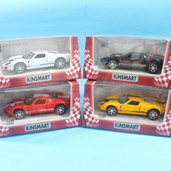 福特 2006 Ford GT 跑車 合金車 1:36 模型車 KT5092 迴力車 汽車模型(紅盒)/一台入{促199}
