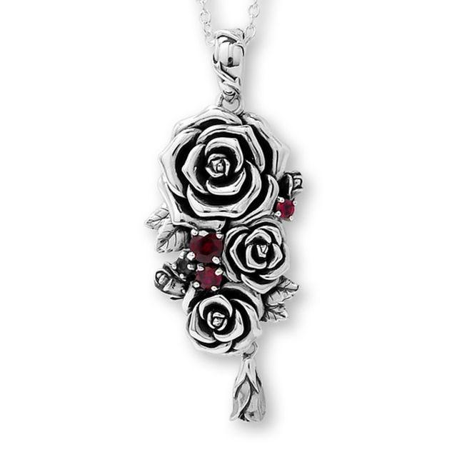 【海外訂購】【KONRON】我愛玫瑰純銀項鍊 45cm(KRP0715-Cz  03643900G2) 1
