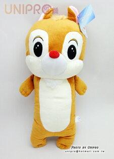 【UNIPRO】迪士尼 救難小福星 奇奇蒂蒂 12吋 Q版蒂蒂絨毛長枕 長型玩偶 生日禮物