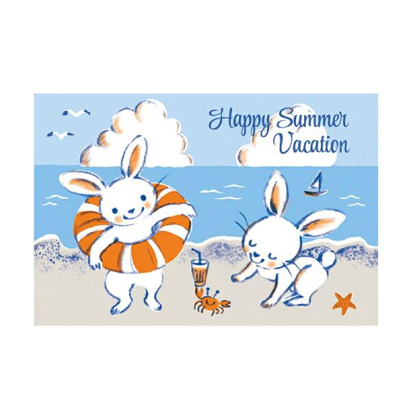 Happy Summer Vacation【卡雷爾恰佩克Karel Capek 】-山田詩子/手繪明信片