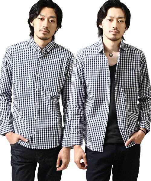襯衫 直條紋 格紋 雙色格紋 窗格 釦領長袖 ZIP FIVE 日本男裝 超商取貨 zip-tw 【ima0002】