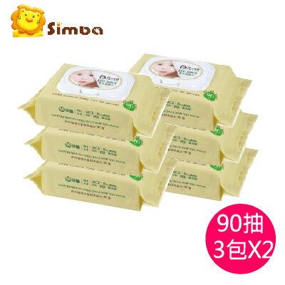 【2串6包特價$360】台灣【Simba 小獅王】EDI超純水嬰兒柔濕巾組合包(90抽) 0