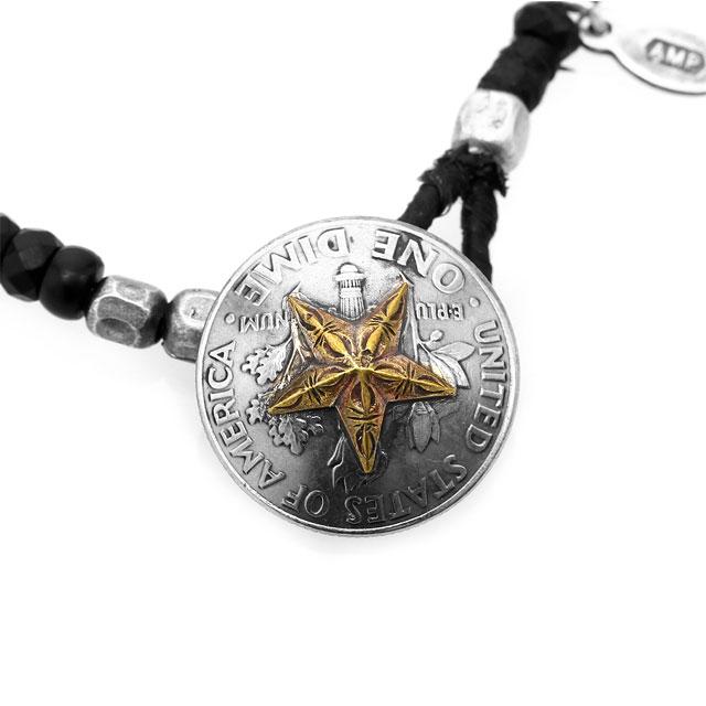【海外訂購】【amp japan】黑瑪瑙串珠星芒硬幣手環(AMP-15AHK-417  082568D200) 2