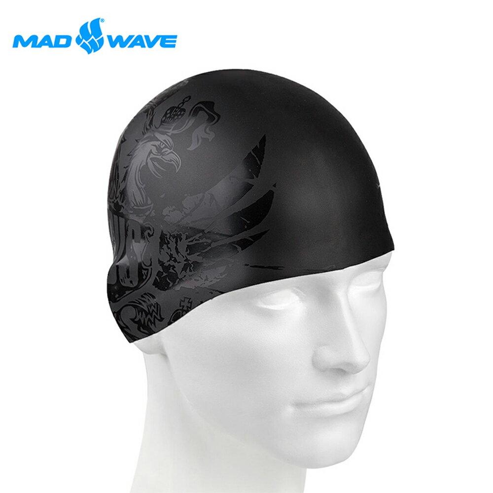 俄羅斯MADWAVE成人矽膠泳帽 BLACKRUSSIA - 限時優惠好康折扣