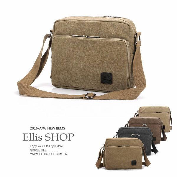 ~ELLIS Shop 艾里斯~   帆布單肩包 ~BA12434~ ~  好康折扣