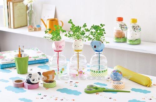 ~F13110701~開心農場 動物寵物瓶植栽 桌面植物DIY盆栽 三葉草 ~  好康折扣