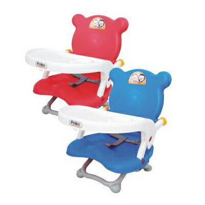 【奇買親子購物網】藍色企鵝 PUKU Petit 可攜式活動餐椅(藍/粉)