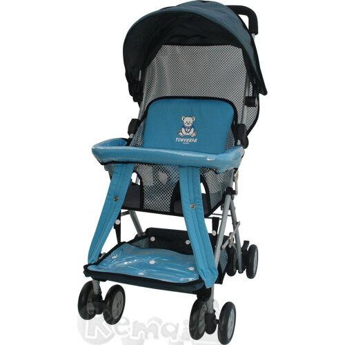 【奇買親子購物網】湯尼熊 Tony Bear 可揹式嬰兒三用揹架推車(藍/紅)