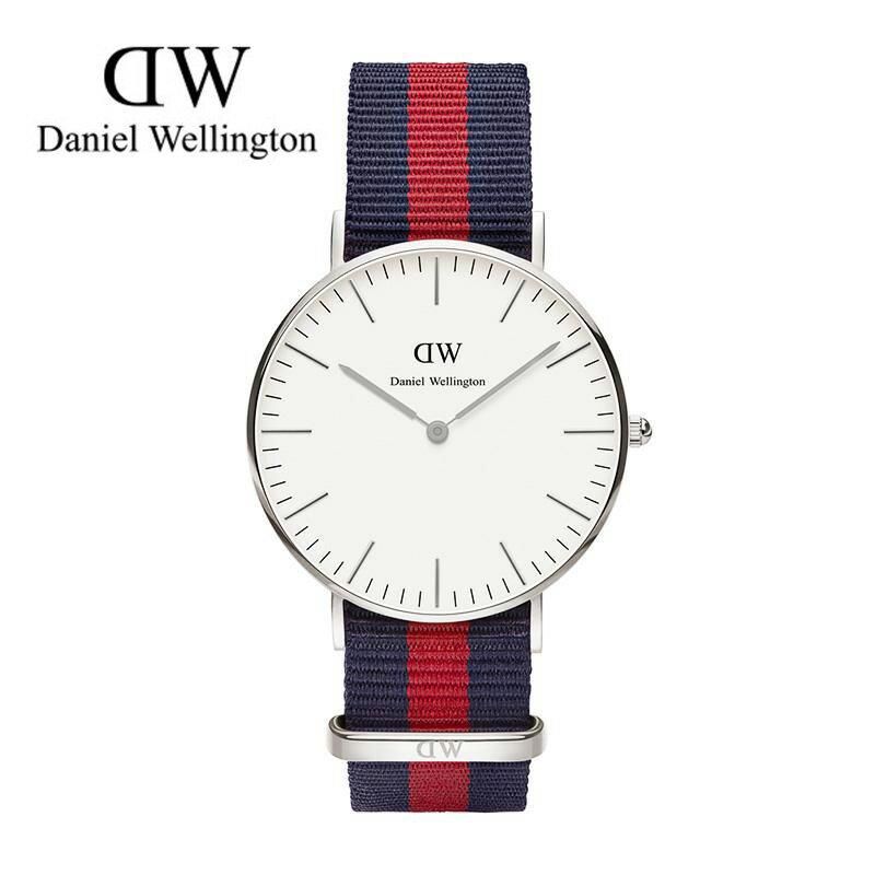 瑞典正品代購 Daniel Wellington 0601DW 銀  尼龍 帆布錶帶 女錶手錶腕錶 36MM 0