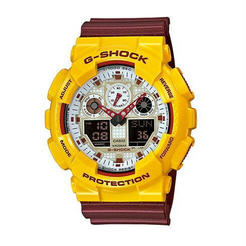 CASIO G-SHOCK GA-100CS-9A青春夏天時尚腕錶/白面51mm