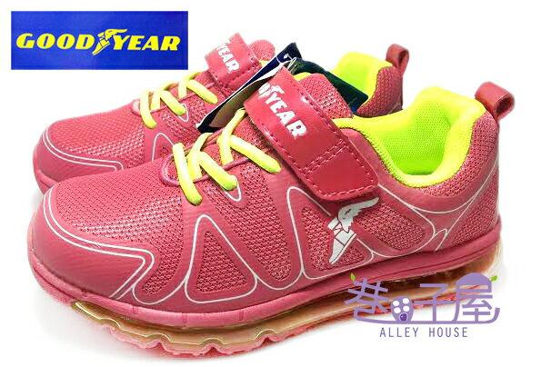 【巷子屋】GOODYEAR固特異 女童穩定避震全氣墊運動慢跑鞋 [48702] 桃 超值價$590