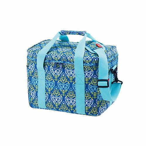 【鄉野情戶外專業】 Coleman |美國|  15L保冷袋購物袋保冰袋冰桶冰筒軟式摺疊 -藍葉圖騰 _CM-22226M000