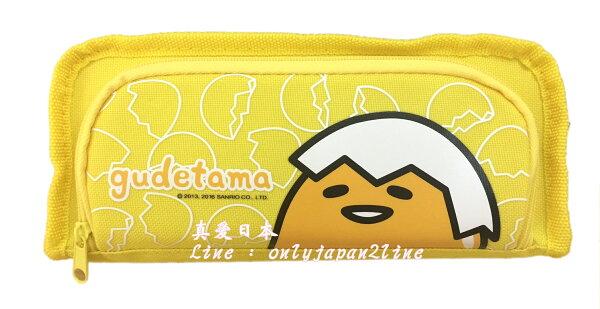 【真愛日本】16070400002前拉鏈長方筆袋-蛋黃哥      蛋黃哥 三麗鷗 鉛筆盒 鉛筆袋 文具用品 收納