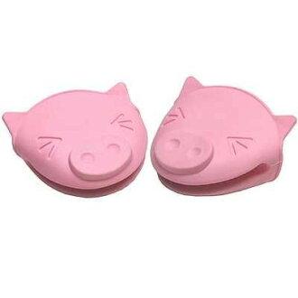 小豬防滑隔熱手套/耐熱矽膠防燙手套 粉色 ☆真愛香水★