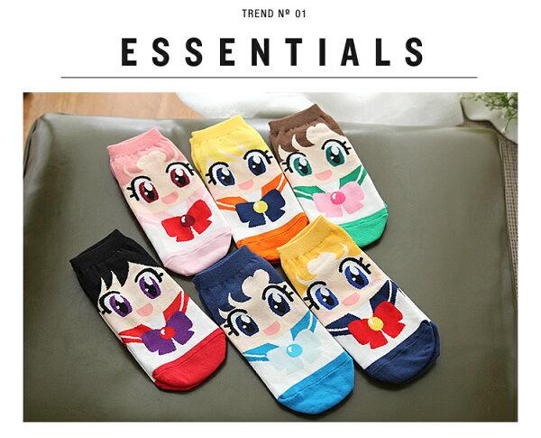 韓國製美少女戰士船型短襪/襪子 現貨~不挑色