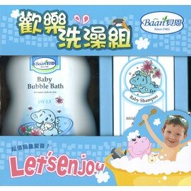 Baan 貝恩 - 泡泡香浴露1000ml+嬰兒洗髮精200ml 歡樂洗澡組 0