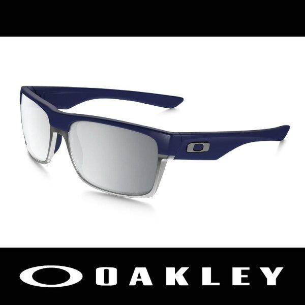 萬特戶外運動-美國 OAKLEY 太陽眼鏡 TWOFACE系列 霧面海軍藍+鋁合金鏡框 鍍銥鏡片 偏光 休閒款 OO9256-11
