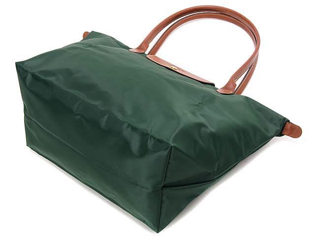 【LONGCHAMP】 LE PLIAGE 基本摺疊款/長把水餃包(墨綠/大) 1