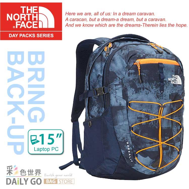 THE NORTH FACE 15吋電腦包 後背包 28公升-藍灰印花 CHK4-BTA
