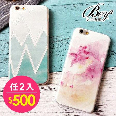 ☆BOY-2☆【N4055】文青水彩手機殼 iPhone6 6plus 0