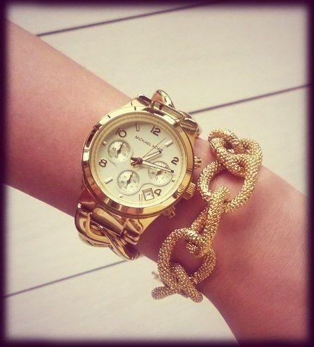 美國Outlet正品代購 MichaelKors MK 玳瑁三環 手鍊 手錶 腕錶 MK3131 6