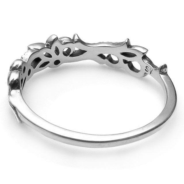 【海外訂購】【KONRON】花樣圖騰純銀戒指(KRBCR1094-Cz) 2