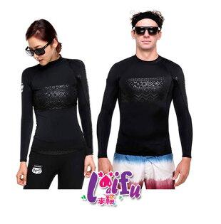 ★草魚妹★V175沖浪服超黑力浮潛長袖泳衣單車服情侶泳衣,女生單衣服售價950元