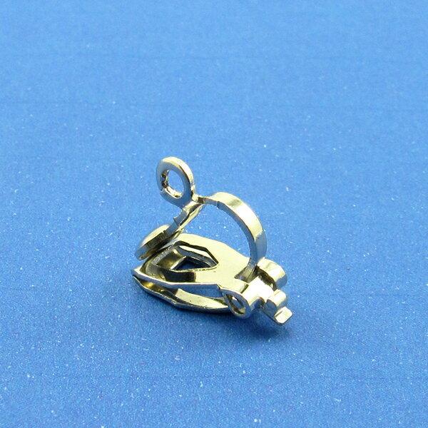 【60056】後三角耳夾-白鎳 (5對入)