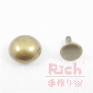 【原價10元,特價7元】裝飾扣B17-11mm磨菇撞釘古銅