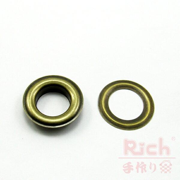 【原價10元,特價7元】裝飾扣B35(古銅)-34mm雞眼