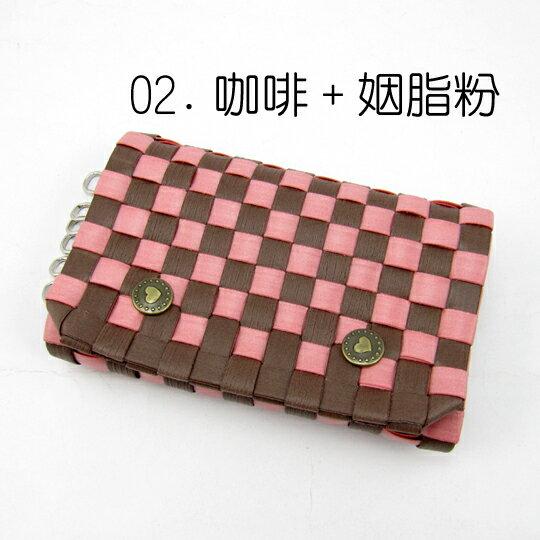New!9mm鑰匙包-雙摺【材料包】02.咖啡+姻脂粉