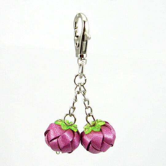 柿子吊飾-6mm-鑰匙圈【材料包】10色可選