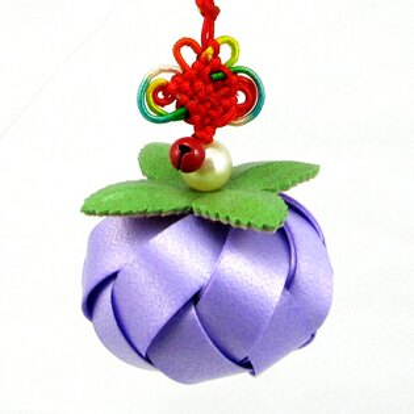 柿子吊飾-12mm-中國結【材料包】10色可選