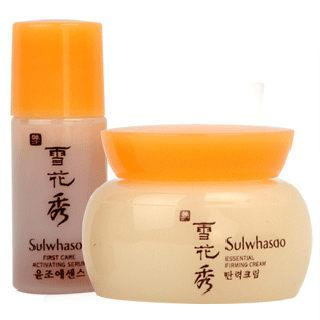 Sulwhasoo 韓國原裝 雪花秀 潤燥精華EX-4ML + 彈力面霜-5ML  附盒 體驗2件組 《ibeauty愛美麗》