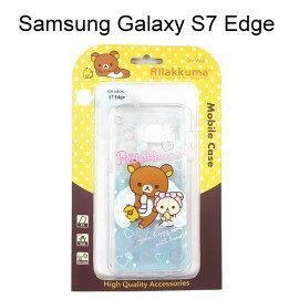 拉拉熊透明軟殼 [沐浴] Samsung G935FD Galaxy S7 Edge 懶懶熊【San-X正版授權】